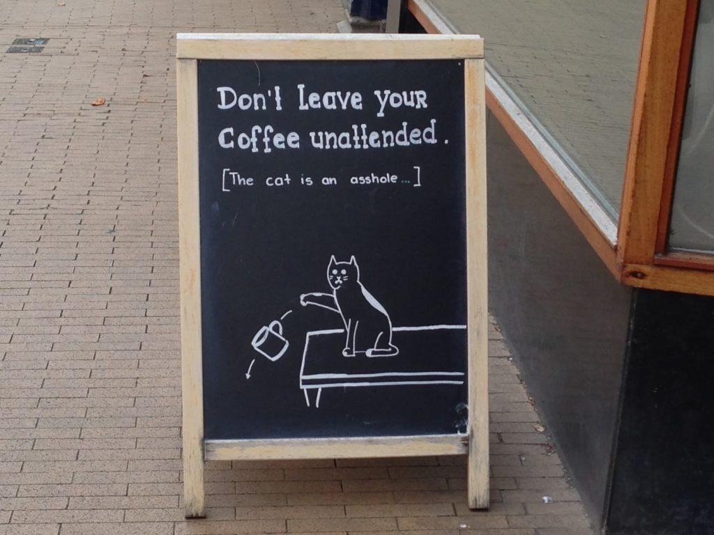 Cat Cafe Sign