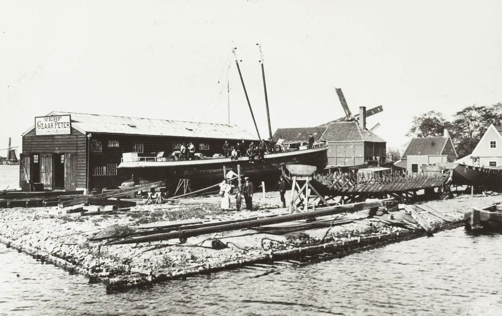 Czaar Peter Shipyard around the time of WW1