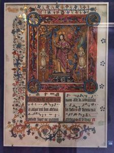 Illuminated musical manuscript.