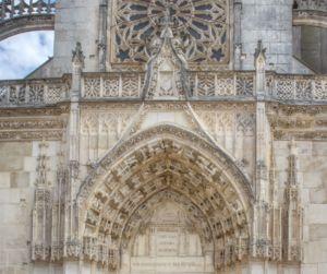 The decorative portal.