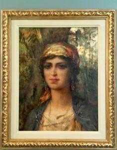 Femme orientale au turban jaune (1925)