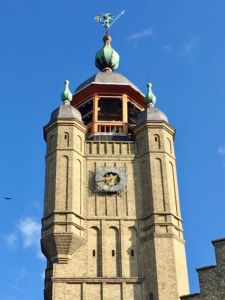 The top of the belfry that houses the bells Antoine used to charm Annabelle