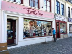 The lingerie shop where Phillipe glanced much to the horror of his landlady.
