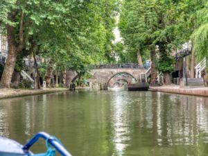 Downtown Utrecht - bridges and bicycles - so Dutch!