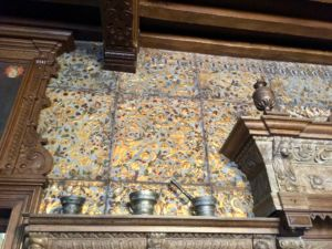 The incredibly detailed tiles in the main hall